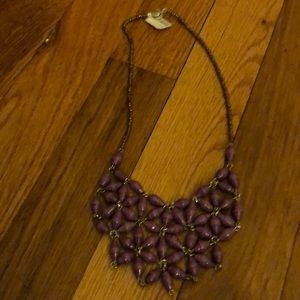 Anthropologie purple necklace